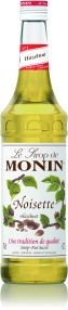 Monin Syrup Hazelnut 1L (plastic) - Tarnished labels, This does not effect the product in any way 10% discount applied