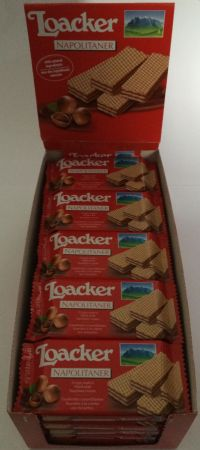 Loacker Napolitaner Wafer (Hazelnut) 25x45g Case