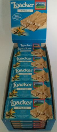 Loacker Vanillie Wafer (Vanilla) 25x45g Case